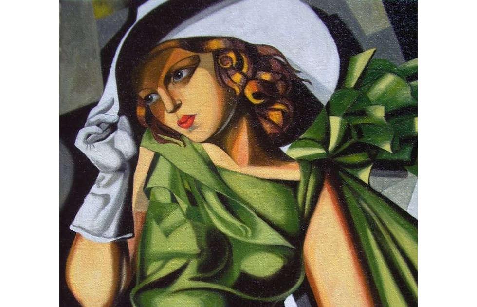 Tamara de Lempicka, Mädchen in grünem Kleid, Detail, um 1927 (Centre Georges Pompidou, Paris)