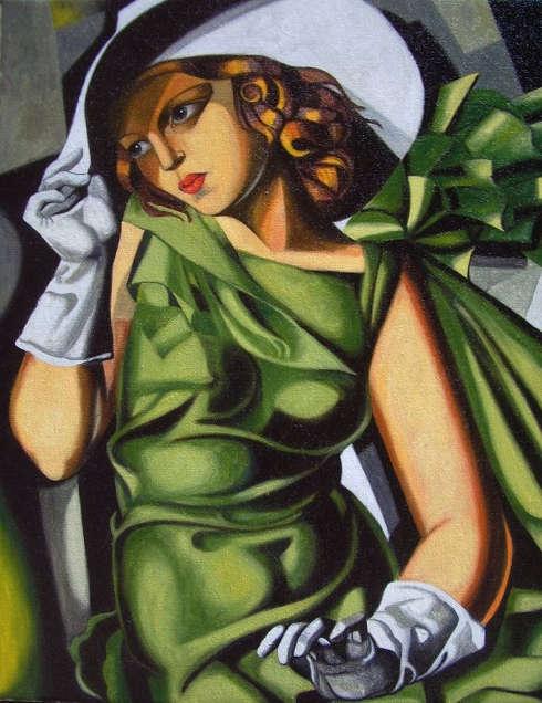 Tamara de Lempicka, Mädchen in grünem Kleid, um 1927 (Centre Georges Pompidou, Paris)
