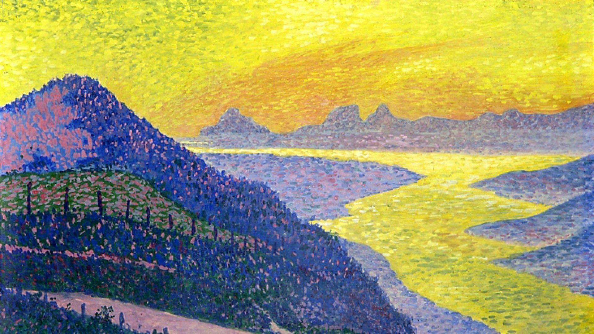 Théo Van Rysselberghe, Sonnenuntergang bei Ambleteuse, 1899, Öl/Lw, 33 x 50 cm