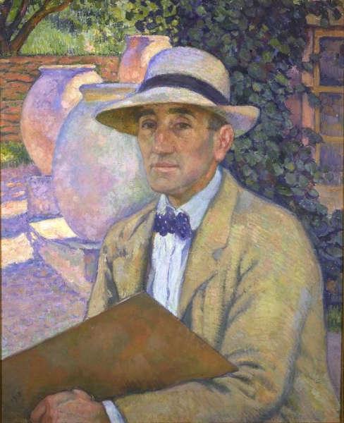 Théo van Rysselberghe, Selbstporträt in Panama, 1918 (Privatsammlung)