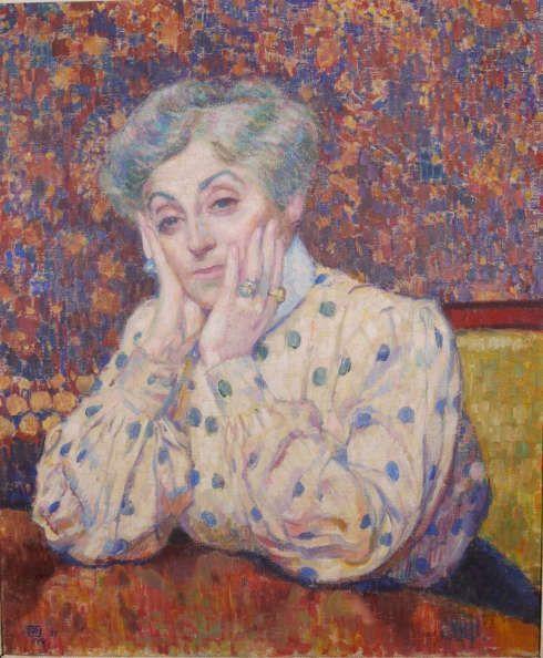 Théo Van Rysselberghe, Madame Théo van Rysselberghe, 1907, Öl/Lw, 65 x 54 cm