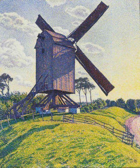 Théo van Rysselberghe, Die Mühle von Kalf in Knokke, 1894, Öl-Lw, 80 x 68,5 cm (Privatsammlung)