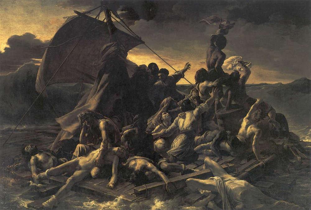 Théodore Géricault, Das Floss der Medusa, Öl/Lw, 1817/18 (Louvre)