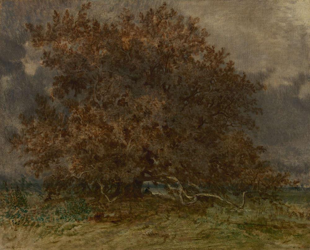 Théodore Rousseau, Der schräge Baum bei Carrefour de l'Epine, 1852 (The Mesdag Collection, Den Haag)