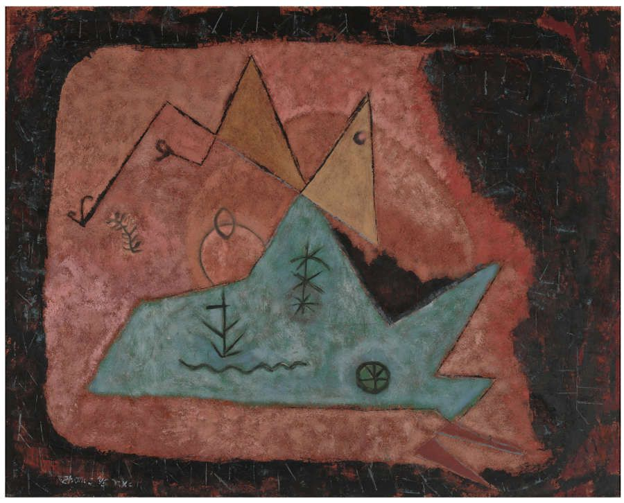 Theodoros Stamos, Ohne Titel, 1945, Öl auf Faserplatte, 61 x 76.2 cm (Hirshhorn Museum and Sculpture Garden, Smithsonian Institution, Washington, DC, Gift of Joseph H. Hirshhorn, 1966 © Estate of Theodoros Stamos, New York)
