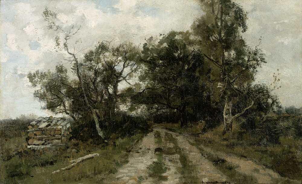 Théophile de Bock, Sandiger Weg, 1870–1904, Öl auf Leinwand, 32 x 51 cm (Rijksmuseum, Amsterdam)