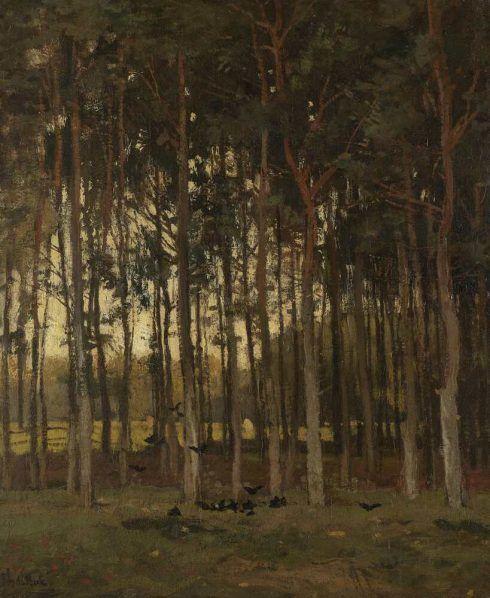 Théophile de Bock, Wald, Öl auf Leinwand, 46 x 38 cm (Rijksmuseum, Amsterdam)