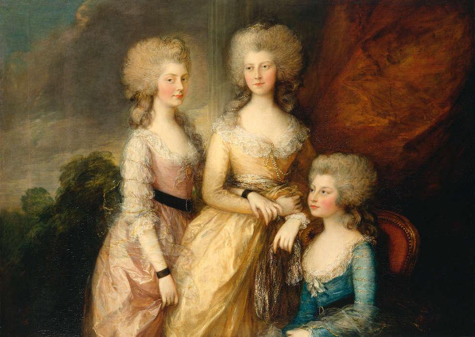 Thomas Gainsborough, Die drei ältesten Prinzessinnen Charlotte, Princess Royal, Augusta und Elizabeth, 1783–84 (Royal Collection Trust / (c) Her Majesty Queen Elizabeth II 2019)