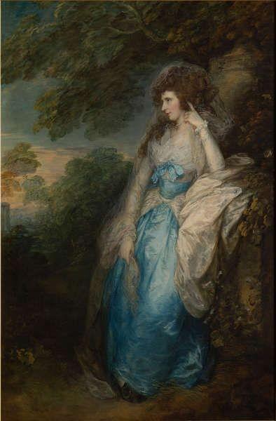 Thomas Gainsborough, Lady Bate-Dudley, um 1787, Öl/Lw, 221 × 145,5 cm (Tate, Privatsammlung, im Depot der Tate Britain seit 1989 © Tate, London, 2019)