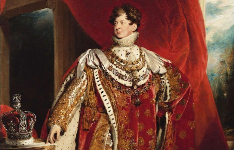 Thomas Lawrence, George IV., Detail, 1821 (Royal Collection Trust / (c) Her Majesty Queen Elizabeth II 2019)