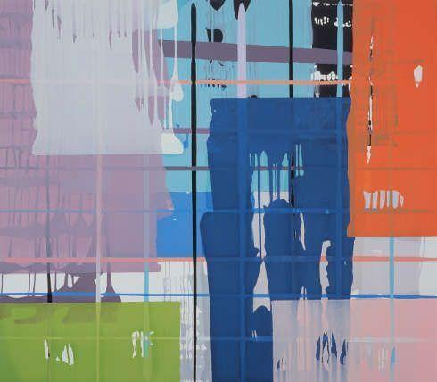 Thomas Reinhold, Stäbchen und Zapfen, 2006, Öl auf Leinwand, 150 x 170 cm (© Thomas Reinhold)