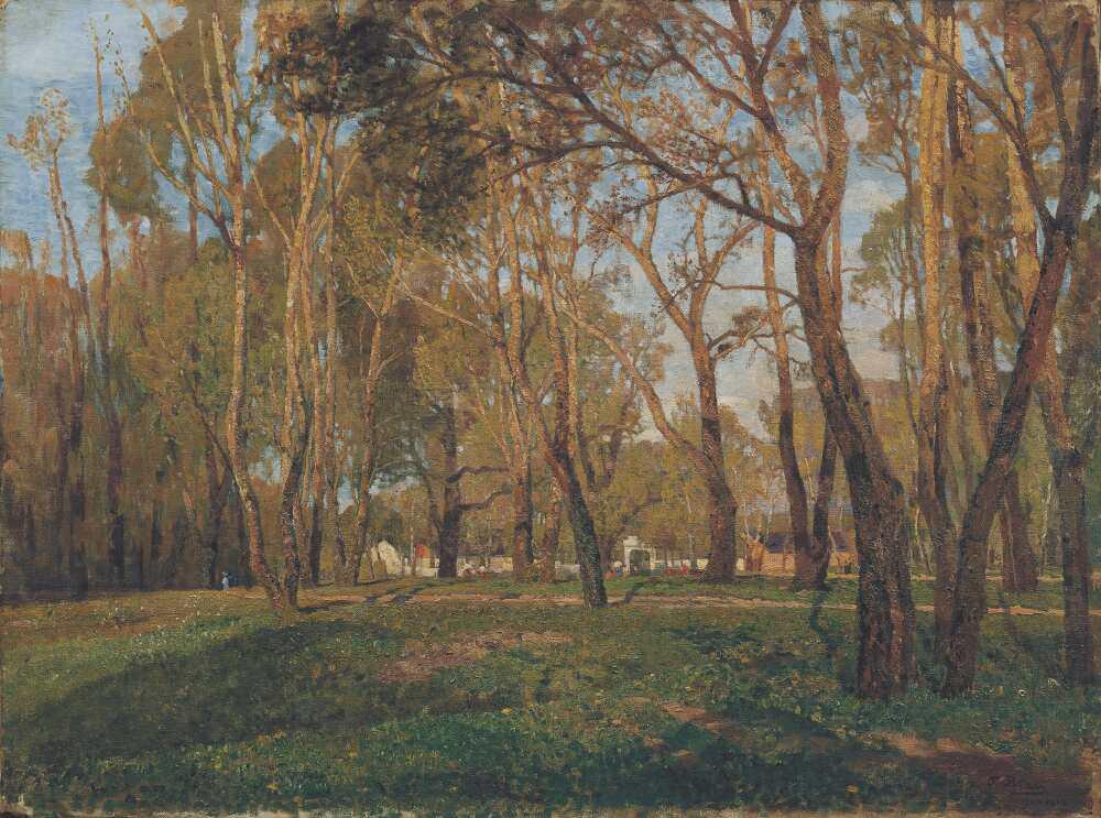 Tina Blau, Krieau im Prater, 1902, Öl auf Leinwand, 75,5 x 105 cm (© Belvedere, Wien)