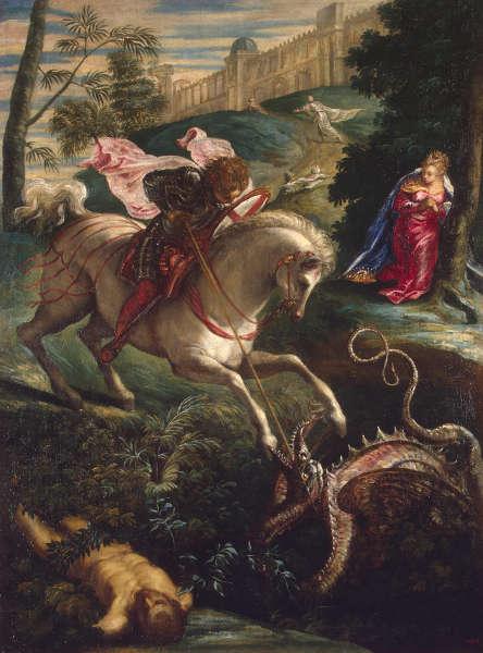 Jacopo Tintoretto, Der hl. Georg, um 1543/44, Öl/Lw (© Staatliche Eremitage, St. Petersburg)