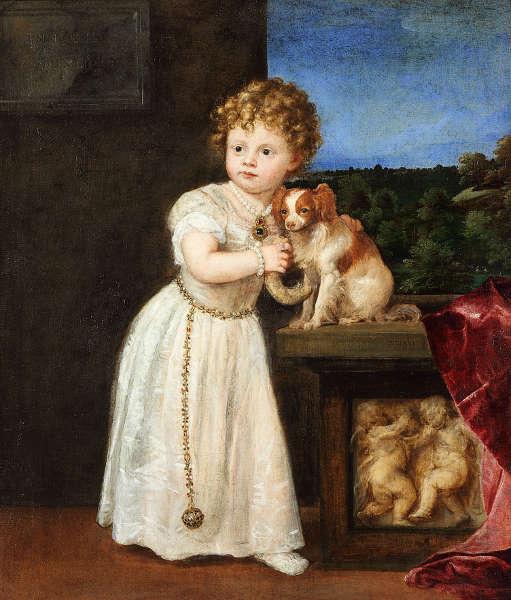 Tizian, Bildnis der Clarice Strozzi, 1542, Öl auf Leinwand, 121,7 x 104,6 cm (Berlin, Staatliche Museen, Gemäldegalerie © bpk / Gemäldegalerie, SMB / Christoph Schmidt, Städel)