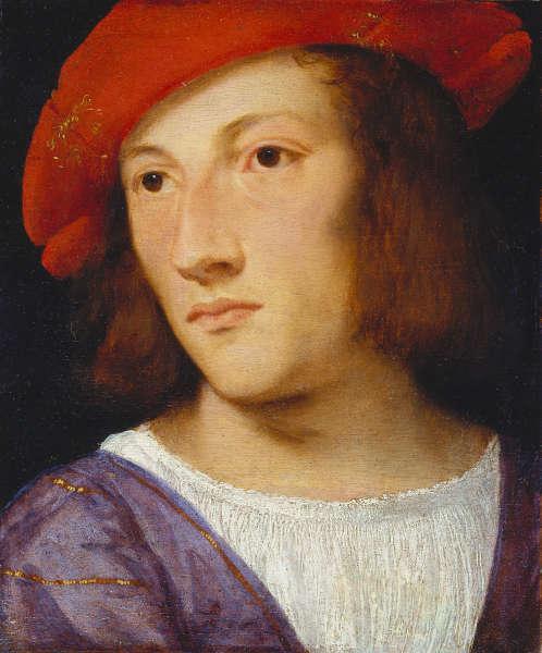 Tizian, Bildnis eines jungen Mannes, um 1510, Pappelholz, 20 x 17 cm (Städel Museum Frankfurt a.M. © Städel Museum – ARTOTHEK)