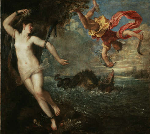 Tizian, Perseus und Andromeda, um 1554–1556, Öl auf Leinwand, 175 x 189.5 cm (The Wallace Collection, London © The Wallace Collection, London)