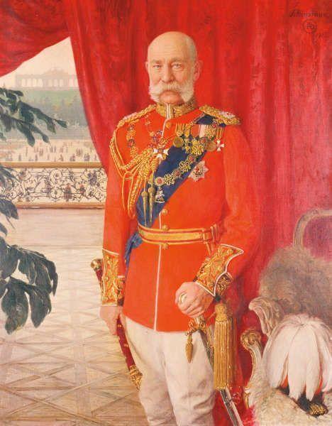 Tom von Dreger, Kaiser Franz Joseph I. in der Galauniform eines britischen Feldmarschalls, 1913 (Belvedere, Wien)