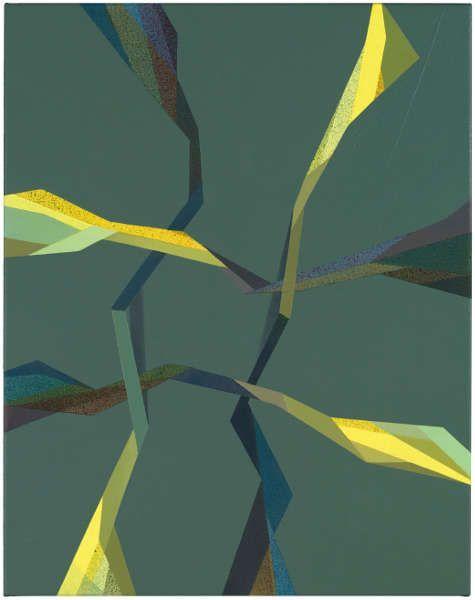 Tomma Abts, Fiebe, 2017, Acryl/Öl/Lw, 48 × 38 cm (Courtesy Privatsammlung)