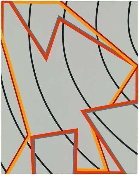 Tomma Abts, Jeels, 2012, Acryl/Öl/Lw, 48 × 38 cm (Courtesy Privatsammlung)