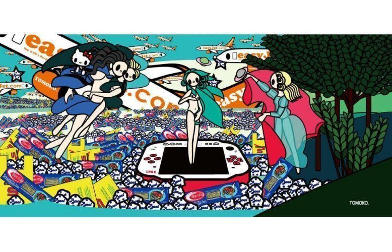Tomoko Nagao, Botticelli - The Birth of Venus with Baci, Esselunga, Barilla, PSP and EasyJet, 2012