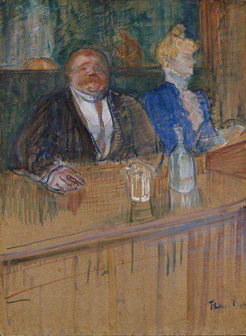 Henri de Toulouse-Lautrec, Im Café, der Gast und die bleichsüchtige Kassiererin, 1898 (Kunsthaus Zürich)
