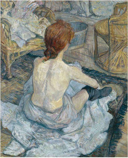 Henri de Toulouse-Lautrec, Rothaarige (Die Toilette), 1899, Öl/Karton, 67 x 54 cm (Musée d'Orsay, Paris, Legat von Pierre Goujon, 1914)