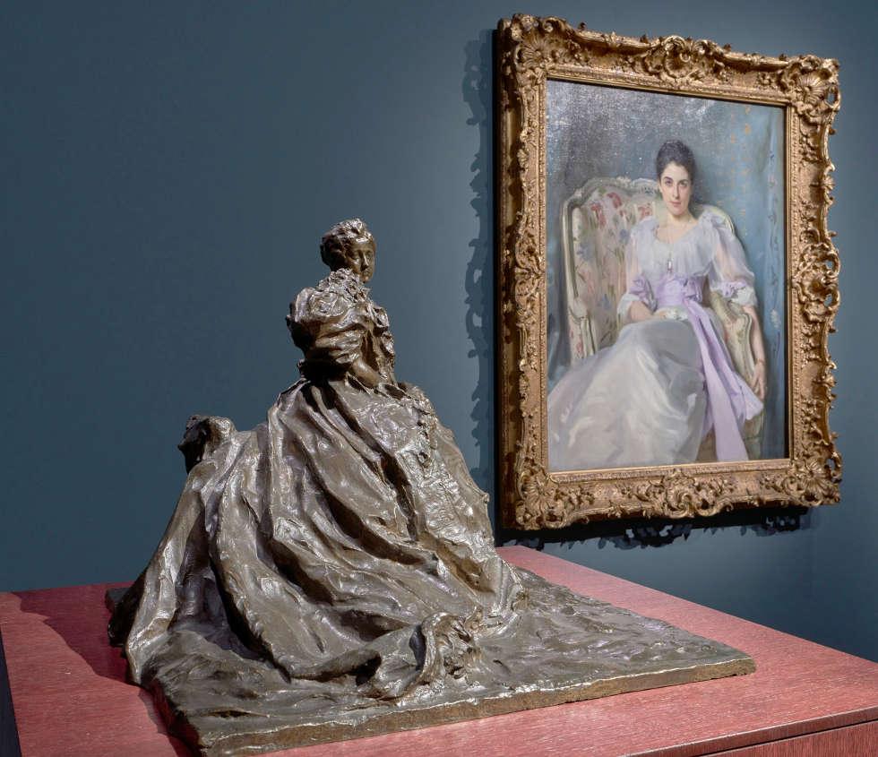 Troubetzkoy und Sargent, Ausstellungsansicht EN PASSANT. Impressionismus in Skulptur, Foto: Städel Museum / Norbert Miguletz