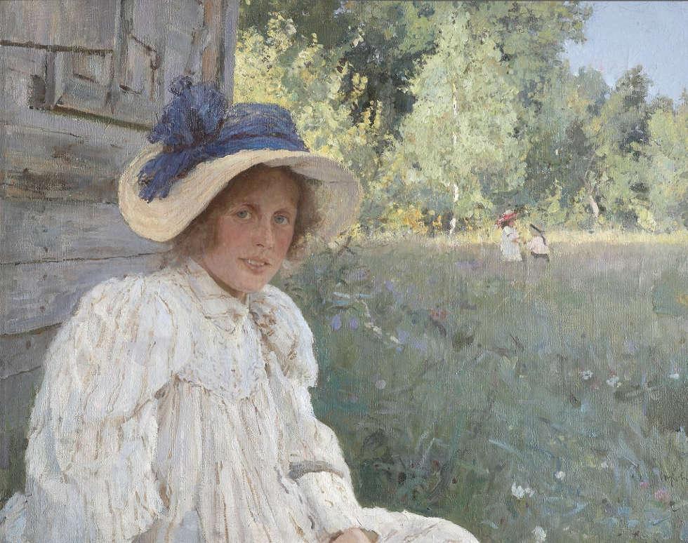 Valentin Serow, Im Sommer, 1895, Öl/Lw, 74 х 94 cm (Tretjakow-Galerie, Moskau)
