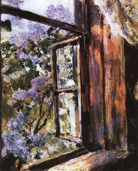 Valentin Serow, Offenes Fenster. Flieder, 1886, Öl/Lw (The Art Museum of Belarus, Minsk, Belarus)