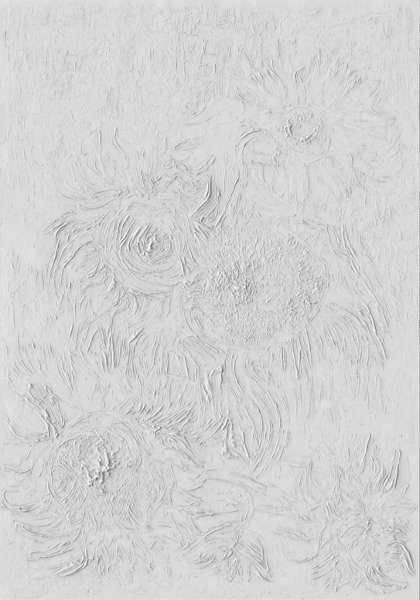 Van Gogh, Sonnenblumen, rekonstruierte Oberfläche © Factum Arte