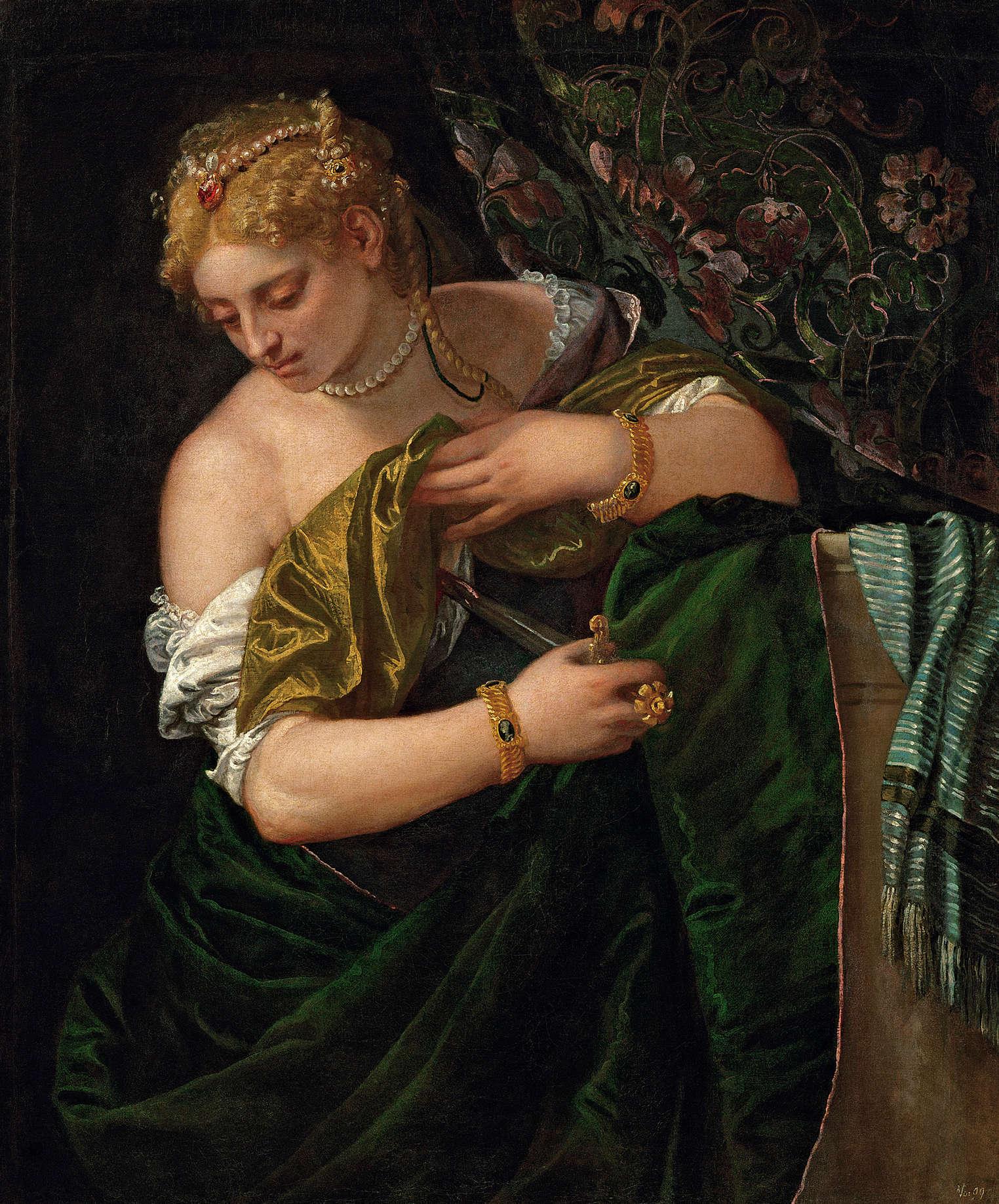 Veronese, Lucretia, 1580‒1583, Öl auf Leinwand, 109,5 x 90,5 cm (Kunsthistorisches Museum, Wien)