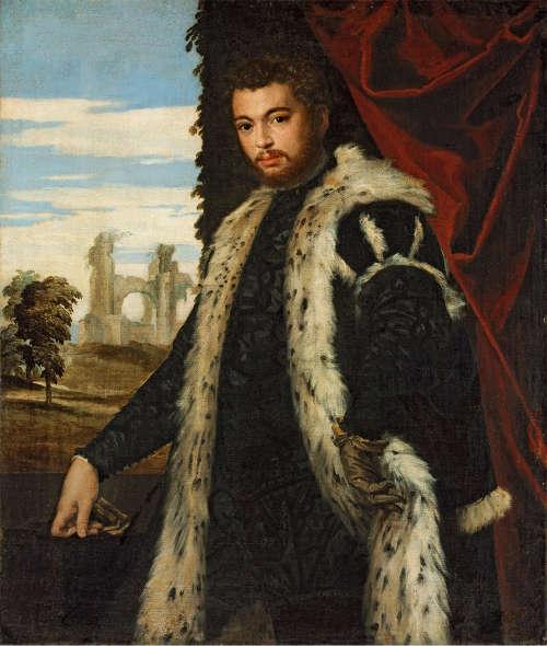 Veronese, Porträt eines Mannes, um 1555, Öl auf Leinwand, 120 x 102 cm (Szépmüvészeti Múzeum, Budapest)