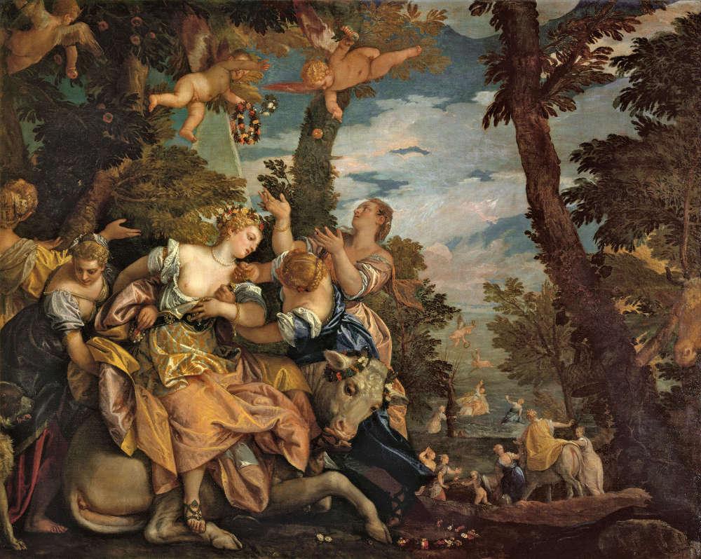 Veronese, Raub der Europa, um 1580, Öl auf Leinwand, 162 x 191 cm (Madrid, Museo del Prado)