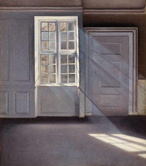 Vilhelm Hammershøi, Sonnenstrahlen oder Sonnenlicht, 1900, Öl auf Leinwand, 70 x 59 cm (Ordrupgaard, Kopenhagen © Foto: Anders Sune Berg)