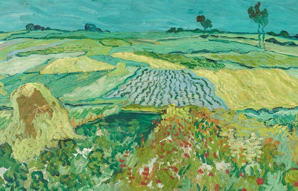 Vincent van Gogh, Weizenfelder bei Auvers-sur-Oise, Detail, 1890, Öl auf Leinwand, 50 x 101 cm (Österreichische Galerie Belvedere, Wien)
