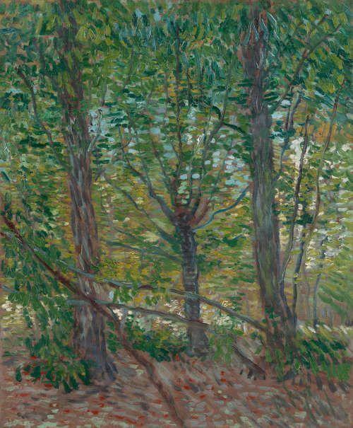 Vincent van Gogh, Bäume, Paris Juli 1887, Öl auf Leinwand, 46,5 × 38 cm (Van Gogh Museum, Amsterdam / Vincent van Gogh Foundation)