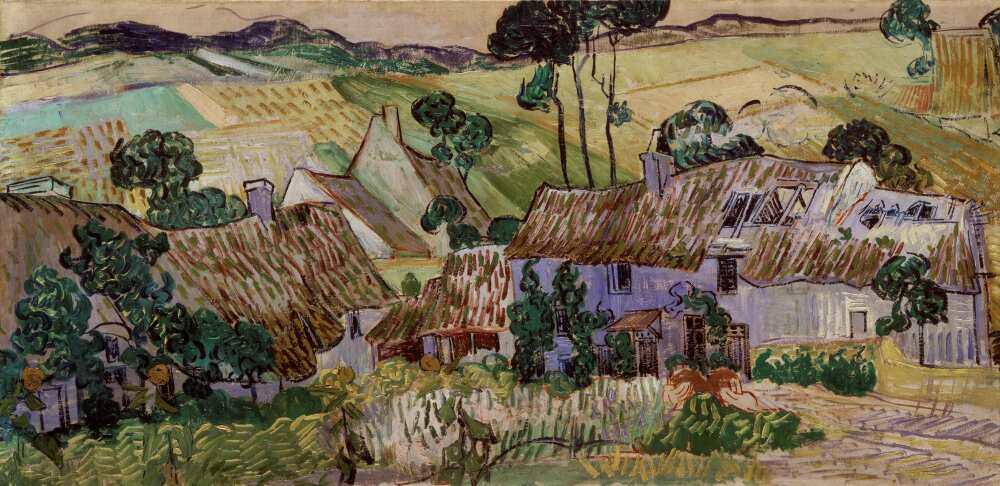 Vincent van Gogh, Bauerhäuser bei Auvers-sur-Oise, 1890, Öl auf Leinwand, 50.2 x 100.3 cm (Tate National Gallery © Tate, London 2015)