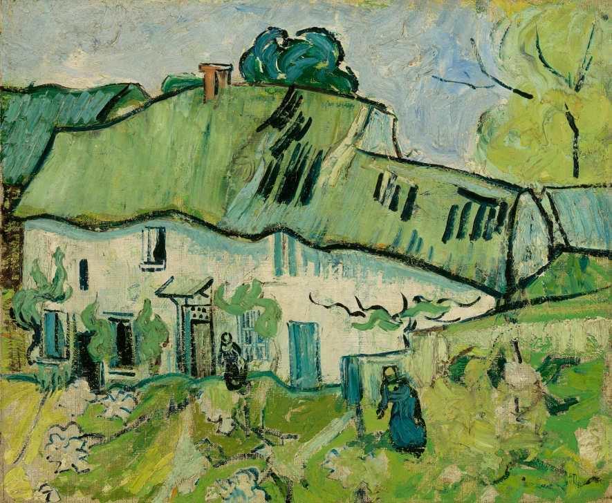 Vincent van Gogh, Bauernhaus, Auvers-sur-Oise, Mai–Juni 1890, Öl auf Leinwand, 38.9 cm x 46.4 cm (Van Gogh Museum, Amsterdam Vincent van Gogh Foundation)