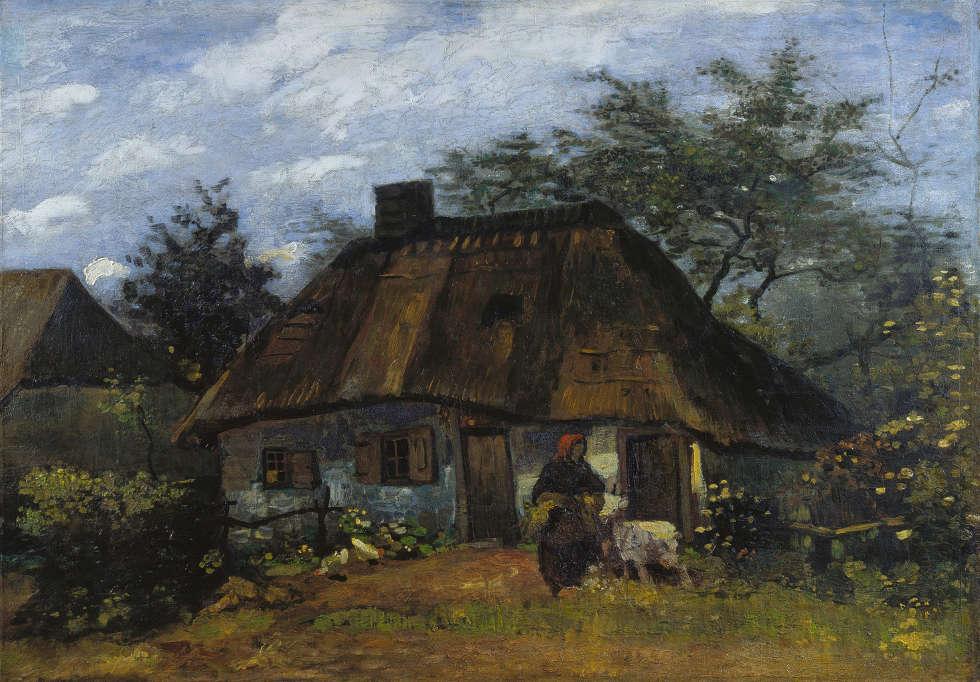 Vincent van Gogh, Bauernhaus in Nuenen, 1885, Öl/Ln, 60 x 85 cm (Städel Museum, Frankfurt am Main, Eigentum des Städelschen Museums-Verein e.V. © Städel Museum - U. Edelmann)