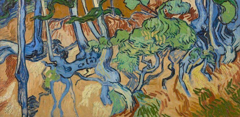 Vincent van Gogh, Baumwurzeln, Auvers-sur-Oise Juli 1890, Öl auf Leinwand, 50.3 × 100.1 cm (Van Gogh Museum, Amsterdam / Vincent van Gogh Foundation)