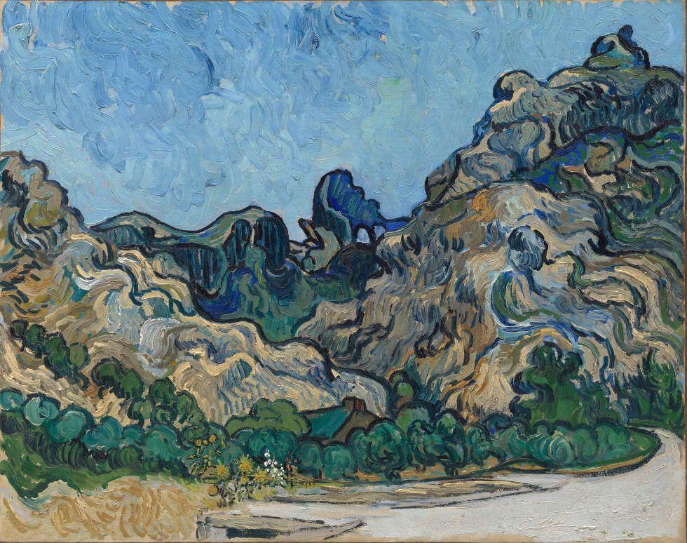 Vincent van Gogh, Berge in Saint-Rémy, 1889, Öl auf Leinwand (Solomon R. Guggenheim Museum, New York, Thannhauser Collection, Gift, Justin K. Thannhauser, 1978, 78.2514.24)