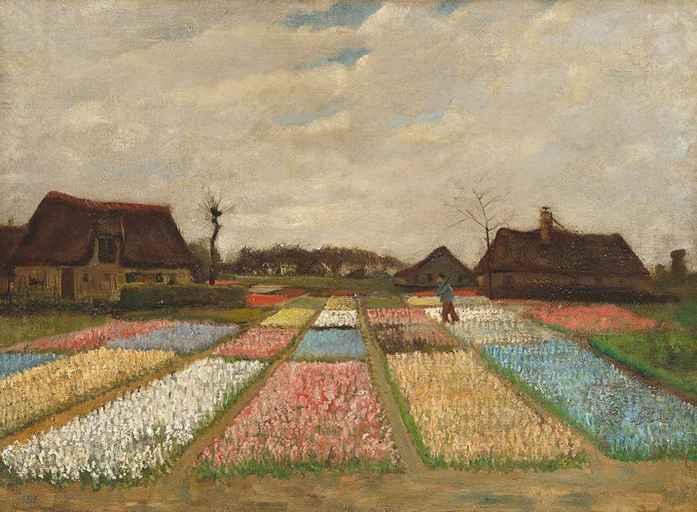 Vincent van Gogh, Blumenbeete in Holland, um 1883, 48,9 x 66 cm (National Gallery of Art, Washington, Collection of Mr. and Mars. Paul Mellon, 1983.1.21)