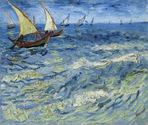 Vincent van Gogh, Boote bei Saintes-Maries-de-la-Mer, 1888