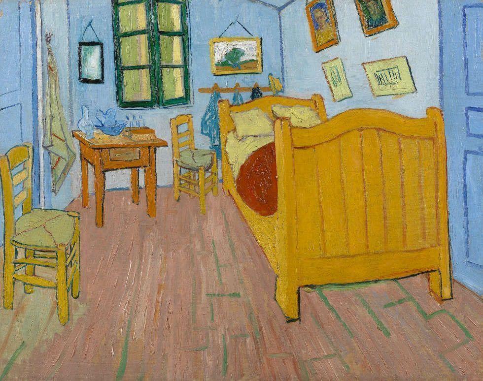 Vincent van Gogh, Das Schlafzimmer, Arles, Oktober 1888, Öl/Lw, 72.4 cm x 91.3 cm (Van Gogh Museum, Amsterdam (Vincent van Gogh Foundation)