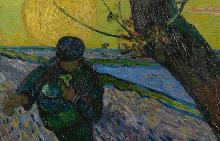 Vincent van Gogh, Der Sämann, Detail, um 25. November 1888, Öl auf Leinwand, 32 x 40 cm (Van Gogh Museum, Amsterdam (Vincent van Gogh Stiftung)