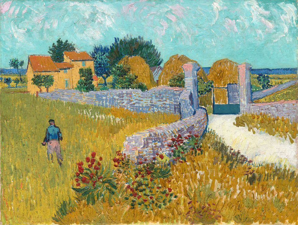 Vincent van Gogh, Der Weg nach Arles, 1888, Öl/Lw, 46,1 x 60,9 cm (National Gallery of Art, Washington D.C. © National Gallery of Art, Washington, Ailsa Mellon Bruce Collection)