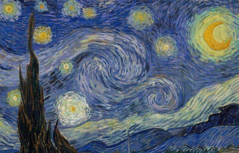 Vincent van Gogh, Die Sternennacht [La Nuit Etoilée], Detail, 18. Juni 1899 (Museum of Modern Art, New York)