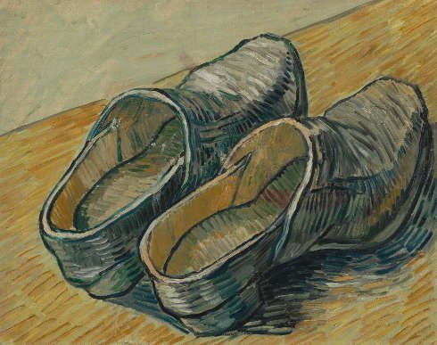 Vincent van Gogh, Ein Paar Lederschuhe, Saint-Rémy-de-Provence, Herbst 1889, Öl/Lw, 32.2 cm x 40.5 cm (Van Gogh Museum, Amsterdam (Vincent van Gogh Foundation)