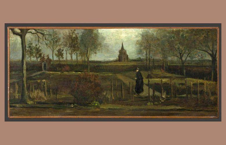 Vincent van Gogh, Fruühlingsgarten. Der Pfarrgarten von Nuenen, 1884