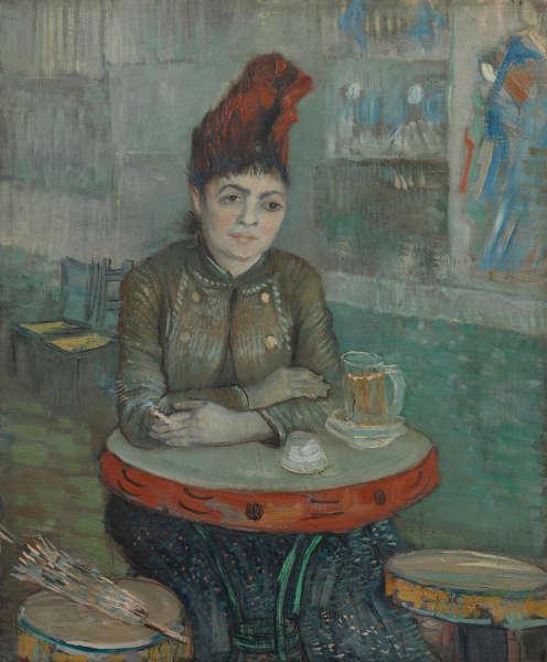 Vincent van Gogh, Im Café: Agostina Segatori im Le Tambourin, Paris, Januar–März 1887, Öl/Lw, 55.5 cm x 47 cm (Van Gogh Museum, Amsterdam (Vincent van Gogh Foundation)